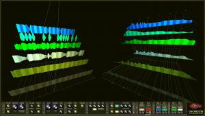 Oscarizor 2D 3D multi channel spectrum analyzer audio plug-in VST VST3 AU AAX Free 3D Combined parallel view