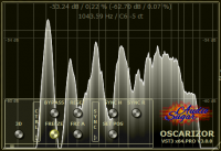 Oscarizor 2D 3D multi channel spectrum analyzer audio plug-in VST VST3 AU AAX Free free sizing