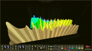 Oscarizor 2D 3D multi channel spectrum analyzer audio plug-in VST VST3 AU AAX Free 3D spectrum