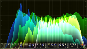 Oscarizor 2D 3D multi channel spectrum analyzer audio plug-in VST VST3 AU AAX Free Spectrum Overlay