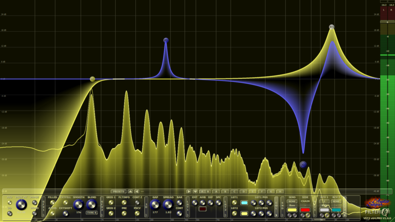 Filterizor 2D 3D multi channel equalizer filter effect audio plug-in VST VST3 AU AAX Free MS