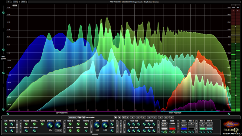 Filterizor 2D 3D multi channel equalizer filter effect audio plug-in VST VST3 AU AAX Free UI