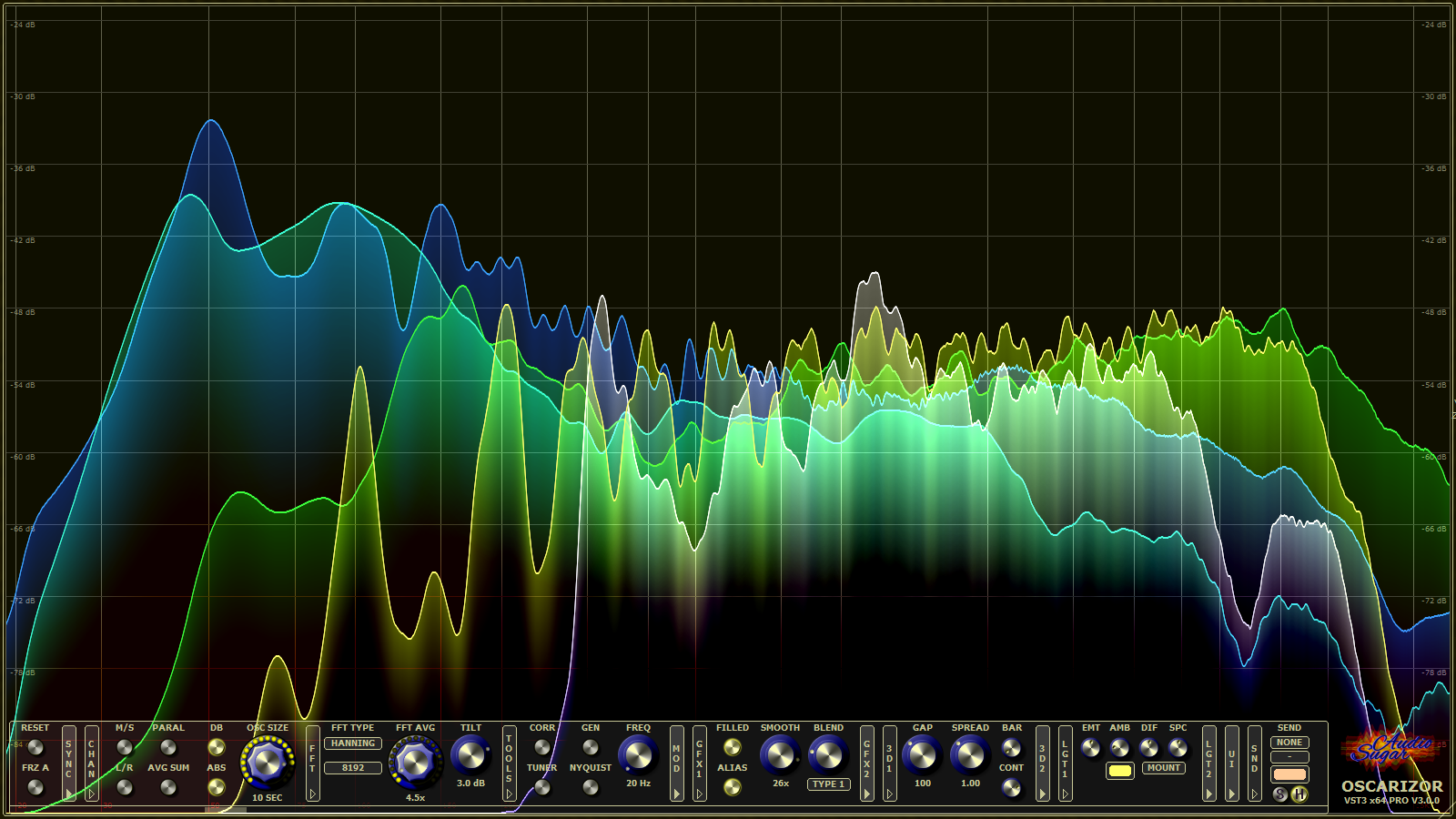 Oscarizor – 2D/3D Multi Channel Spectrum Analyzer Audio Plug-In