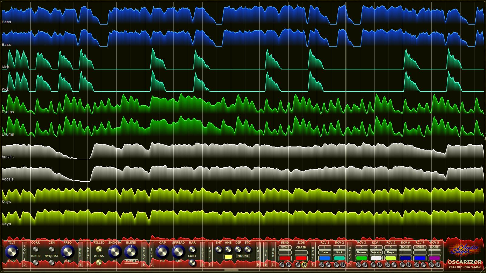 Oscarizor – 2D/3D Multi Channel Spectrum Analyzer Audio Plug-In