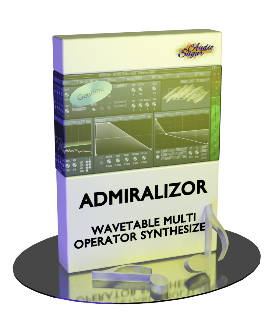 Sugar Audio releases Admiralizor – Wavetable Multi Operator Synthesizer