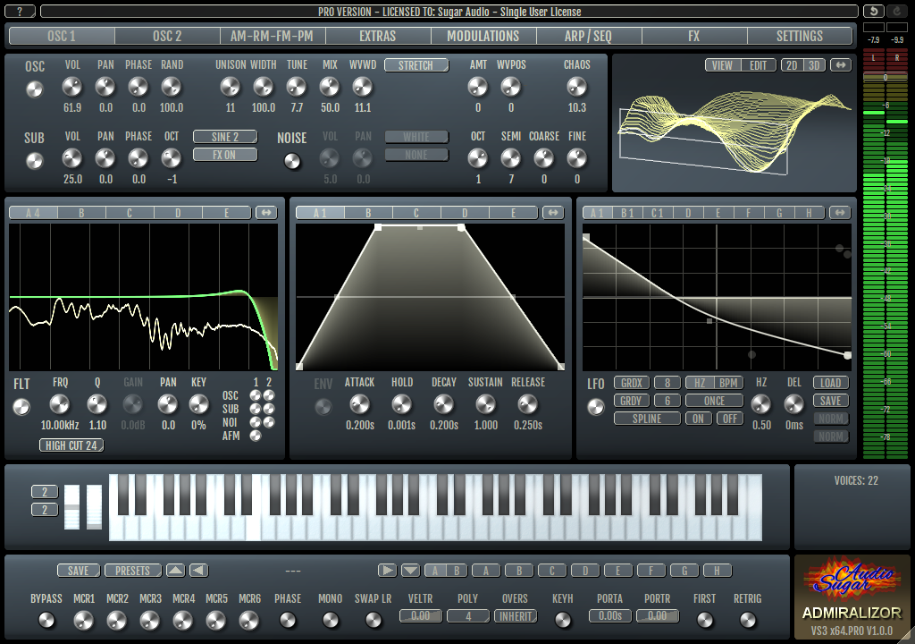 Admiralizor – Wavetable Multi Operator Synthesizer Audio Plug-In