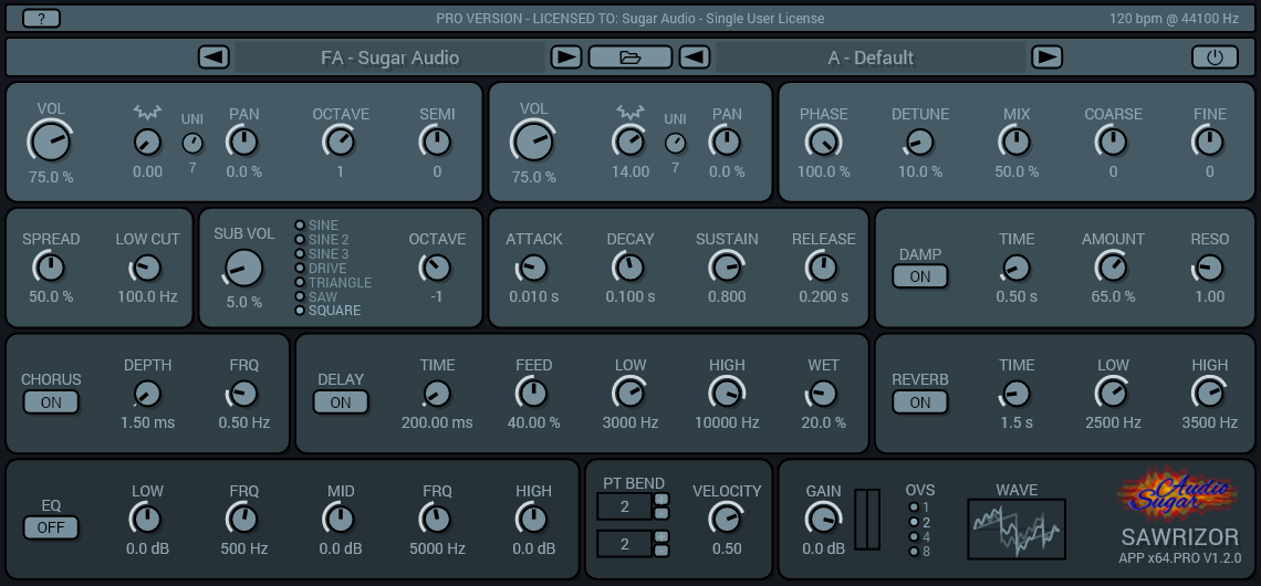 Sawrizor 1.2.0 – Introducing Presets